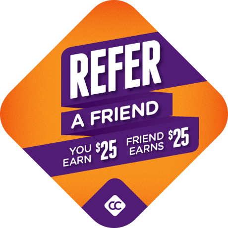 refer a friend & earn $25 graphic